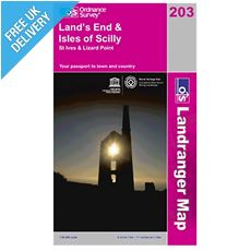 Landranger Map 203 Lands End & Isles of Scilly