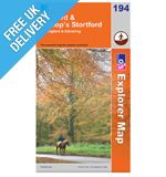 Explorer Map OL194 Hertford and Bishop&#39;s Stortford