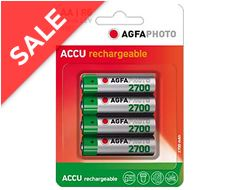 AA Ni-MH 2700 Rechargeable Batteries (4 pack)
