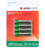 AAA Ni-MH 600 Rechargeable Batteries (4 pack)