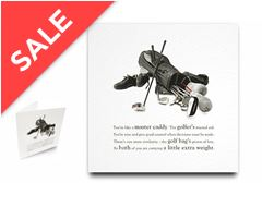 Golf Bag Greeting Card