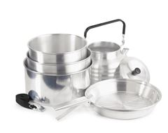6 Piece Anodised Camping Cookset
