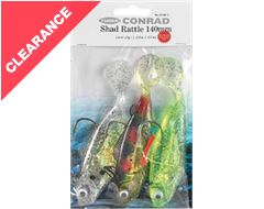 Conrad Shad Rattle Clear 3 pack, 100mm, 22g