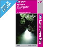 Landranger 201 Plymouth & Launceston (Tavistock & Looe) Map Book