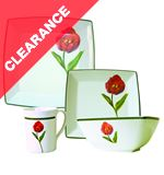 'Tulip' 16 Piece Melamine Tableware Set