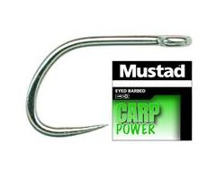Carp Power Barbless Hooks, size 8, 10 pack