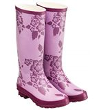 Floral Patterned Women&#39;s Wellies