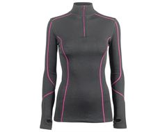 Women's Merino Contrast Zip Top Baselayer