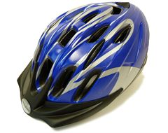 Infusion Cycling Helmet (Blue/Silver)