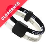 Dual Loop Magnetic Ionic Wristband (Black/White)