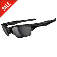 Polarised Half Jacket 2.0 XL Sunglasses (Polished Black/Black Iridium)