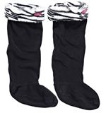 Welly Liner Sock (Zebra Print)