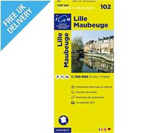 'TOP 100' Series: 102 Lille / Maubeuge Folded Map