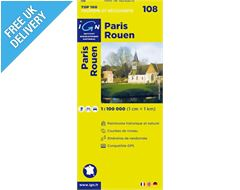 'TOP 100' Series: 108 Paris / Rouen Folded Map