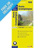 &#39;TOP 100&#39; Series: 109 Paris / Compiegne Folded Map