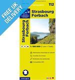 &#39;TOP 100&#39; Series: 112 Strasbourg / Forbach Folded Map