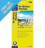 &#39;TOP 100&#39; Series: 114 St Brieuc / Morlaix Folded Map