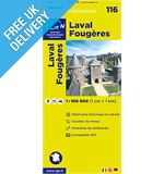 'TOP 100' Series: 116 Laval / Fougeres Folded Map