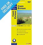 &#39;TOP 100&#39; Series: 117 Caen / Evreux Folded Map