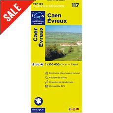 'TOP 100' Series: 117 Caen / Evreux Folded Map