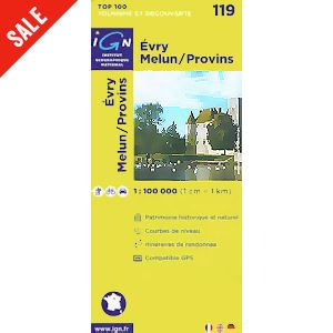 'TOP 100' Series: 119 Evry / Melun / Provins Folded Map