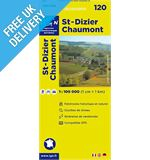 &#39;TOP 100&#39; Series: 120 St-Dizier / Chaumont Folded Map