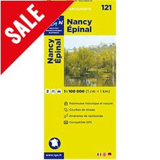 'TOP 100' Series: 121 Nancy / Epinal Folded Map