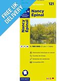 &#39;TOP 100&#39; Series: 121 Nancy / Epinal Folded Map