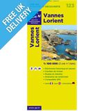 &#39;TOP 100&#39; Series: 123 Vannes / Lorient Folded Map