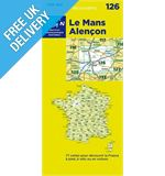 &#39;TOP 100&#39; Series: 126 Le Mans / Alencon Folded Map