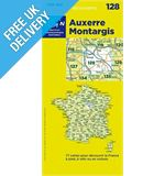 &#39;TOP 100&#39; Series: 128 Auxerre / Montargis Folded Map