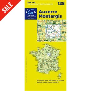 'TOP 100' Series: 128 Auxerre / Montargis Folded Map