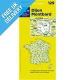 &#39;TOP 100&#39; Series: 129 Dijon / Montbard Folded Map