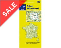 'TOP 100' Series: 129 Dijon / Montbard Folded Map