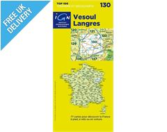 'TOP 100' Series: 130 Vesoul / Langres Folded Map
