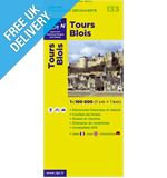 'TOP 100' Series: 133 Tours / Blois Folded Map