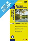 'TOP 100' Series: 134 Bourges / Chateauroux Folded Map