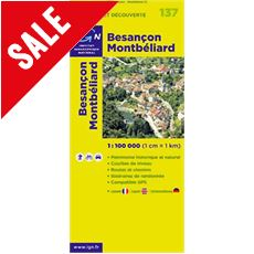 'TOP 100' Series: 137 Besancon / Montbeliard Folded Map