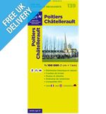 'TOP 100' Series: 139 Poitiers / Chatellerault Folded Map