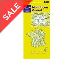'TOP 100' Series: 140 Montlucon / Gueret Folded Map