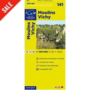 'TOP 100' Series: 141 Moulins / Vichy Folded Map