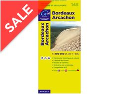 'TOP 100' Series: 145 Bordeaux / Arcachon Folded Map