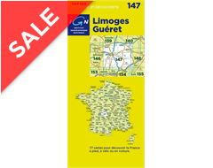 'TOP 100' Series: 147 Limoges / Gueret Folded Map