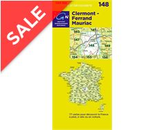 'TOP 100' Series: 148 Clermont-Ferrand / Mauriac Folded Map
