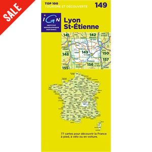 'TOP 100' Series: 149 Lyon / St-Etienne Folded Map