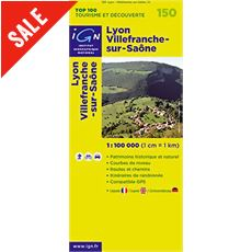 'TOP 100' Series: 150 Lyon / Villefranche-sur-Saone Folded Map