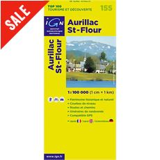 'TOP 100' Series: 155 Aurillac / St-Flour Folded Map