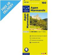 'TOP 100' Series: 160 Agen / Marmande Folded Map