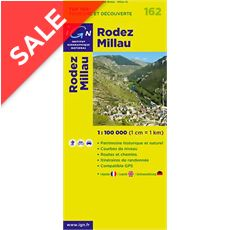 'TOP 100' Series: 162 Rodez / Millau Folded Map
