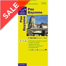 'TOP 100' Series: 166 Pau / Bayonne Folded Map